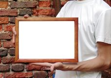 Framein hands Stock Photos