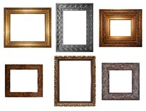 Frames. Decorative Empty Wall Picture Frames to Insert Your Designs Stock Photography