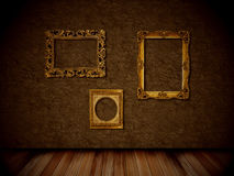 Frames. On the wall in brain room stock images