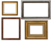 Frames. Hi resolution four frames pack Royalty Free Stock Photography