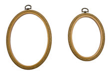 Frames. The two frames on a white background Royalty Free Stock Photo