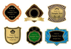 Frames. Vector colored retro labels on white Stock Photos