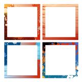 Frames. Creative design isolated frames  drawing Royalty Free Stock Photography