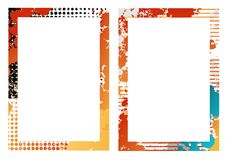 Frames. Two creative isolated  frames Stock Photos