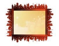 Frames. City theme creative  frames Stock Image