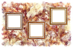 Frames. Old leather on a abstract art grunge background vector illustration