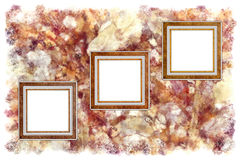 Frames. Old leather on a abstract art grunge background royalty free illustration