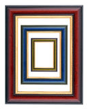 Frames. Collection of various wooden frames on white background Stock Photo