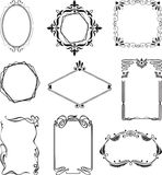 Frames. Various beautiful  frames in style art nouveau Royalty Free Stock Images