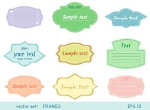 Frames. Vector set of cute different frames Stock Photo