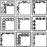 Frames. Decorative square frames and corners Royalty Free Stock Image