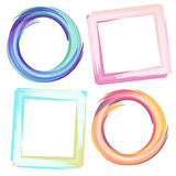 Frames. Abstract square and round frames Stock Images