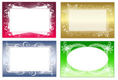 Frames. Set with for colored frames royalty free illustration