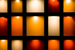 Frames. Framed background at a restaurant with various colors Stock Photography