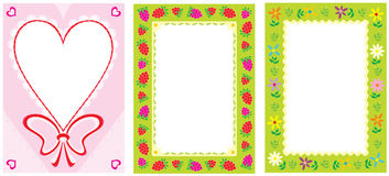 Frames. Vector clip-arts / frames for your photos and design Royalty Free Stock Photography