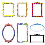 Frames. Colored frames, crystallized color frame Stock Images