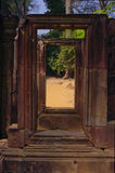 Frames. Sandstone frames. Siem Reap Province, Cambodia Royalty Free Stock Image