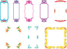 Frames. Varieties of decorative frames in oriental style vector illustration