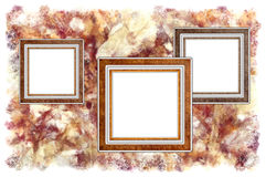 Frames on a abstract background. Frames old leather on a abstract art grunge background Stock Images