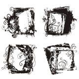 Frames abstratos do grunge Imagens de Stock