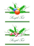 Frames with angel and christmas balls Royalty Free Stock Images