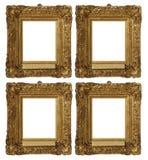 Frames antigos do ouro do vintage ajustados Fotografia de Stock Royalty Free