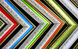 Frames of antique corners, sequence of colors royalty free stock photos