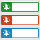 Frames for any text with a Christmas motif. Set of three frames for any text with a Christmas motif royalty free illustration