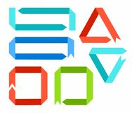 Frames, arrows, ribbons, colored. Royalty Free Stock Photography