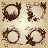 Frames with Autumn Leafs. Thanksgiving. Vector set of black frames with Autumn Leafs. Thanksgiving (From my Floral collection Royalty Free Stock Images