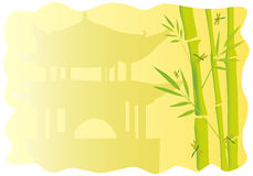 Frames with bamboo. Wonderful frames with chinese motives over pagoda with bamboo royalty free illustration