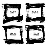 Frames  banners  from abstract black thick smear of paint Royalty Free Stock Photography