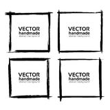 Frames  banners  from abstract thin smear Stock Photos