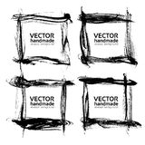 Frames banners  from abstract thin textured smear Royalty Free Stock Photos