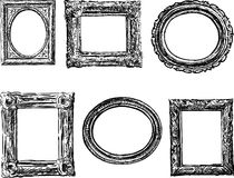 Frames in baroque style Royalty Free Stock Photos