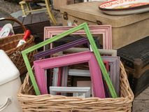 Frames in Basket Royalty Free Stock Photography
