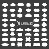 Frames 50 black. Blank frame and label mega set. Vector illustration Stock Photo
