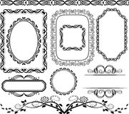 Frames and borders. Set of frames,  borders and ornaments Royalty Free Stock Photography