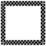Frames, borders and black and white Celtic or Arabic style Royalty Free Stock Photo