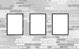 Frames on brick wall vector Royalty Free Stock Photo