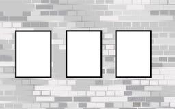 Frames on brick wall vector vector illustration