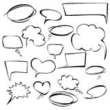 frames and bubbles collection vector hand drawn Royalty Free Stock Image