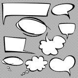 Frames and bubbles collection cartoon vector Stock Photo