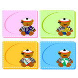 0116_29 frames cards. Assorted Baby Cards with a window inside. Set Stock Photos