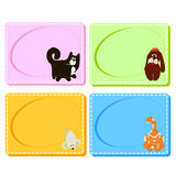 0116_26 frames cards. Assorted Baby Cards with a window inside. Set Stock Images
