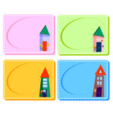 0116_27 frames cards. Assorted Baby Cards with a window inside. Set Stock Image
