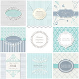 Frames, cards and patterns. Vintage templates. Frames and patterns. Vintage templates for wedding, invitation cards and banners stock illustration