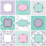 Frames, cards and patterns. Vintage templates. Stock Photography