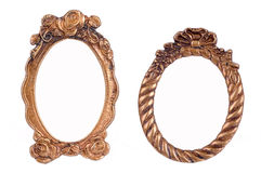 Frames chapeados e rica decorados do ouro Fotos de Stock