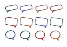 Frames clip art set Stock Photos